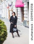 fashion stylish beautiful woman ... | Shutterstock . vector #1059953558