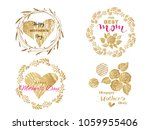 happy mother's day.  collection ... | Shutterstock .eps vector #1059955406