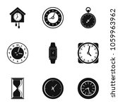 alarm clock icons set. simple... | Shutterstock . vector #1059963962