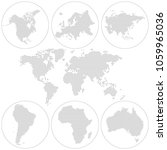 dotted world map. north america ... | Shutterstock .eps vector #1059965036