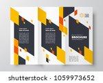tri fold business brochure... | Shutterstock .eps vector #1059973652