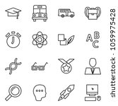 flat vector icon set   graduate ... | Shutterstock .eps vector #1059975428