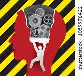 male head under construction ... | Shutterstock .eps vector #1059978422