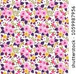 vintage floral background.... | Shutterstock .eps vector #1059987956