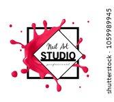 nail art studio logo design... | Shutterstock .eps vector #1059989945
