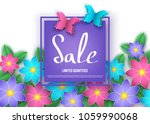 spring or summer  discount ... | Shutterstock .eps vector #1059990068