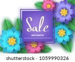 spring or summer  season  sale... | Shutterstock .eps vector #1059990326