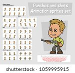 cartoon boy character big... | Shutterstock .eps vector #1059995915