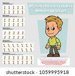 cartoon boy character big... | Shutterstock .eps vector #1059995918