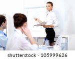 young business people working... | Shutterstock . vector #105999626