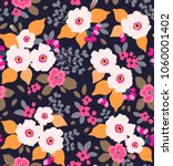 floral seamless pattern with... | Shutterstock .eps vector #1060001402