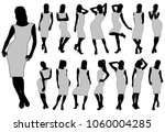 vector silhouettes of women in... | Shutterstock .eps vector #1060004285