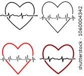 heart rate graph. vector... | Shutterstock .eps vector #1060004342