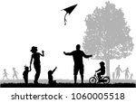 family silhouettes in nature.   Shutterstock .eps vector #1060005518