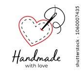 handmade with love logo vintage ... | Shutterstock .eps vector #1060007435