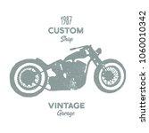 hand drawn old school vintage... | Shutterstock .eps vector #1060010342