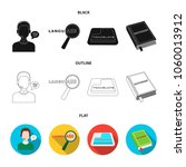 a translator in headphones  a... | Shutterstock .eps vector #1060013912