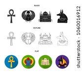 anubis  ankh  cairo citadel ... | Shutterstock .eps vector #1060016912
