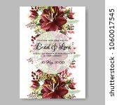 wedding invitation burgundy... | Shutterstock .eps vector #1060017545