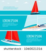 yacht club flyers design with... | Shutterstock .eps vector #1060021316
