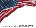 closeup of american flag on... | Shutterstock . vector #1060023572