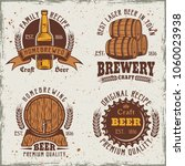 beer set of four colored... | Shutterstock .eps vector #1060023938