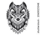 vector tribal style wolf totem...   Shutterstock .eps vector #1060025348