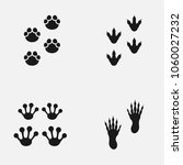 set of paw print icons. | Shutterstock .eps vector #1060027232