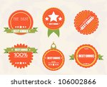 vector best choice guaranteed... | Shutterstock .eps vector #106002866