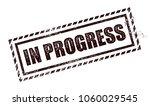 in progress stamp | Shutterstock .eps vector #1060029545