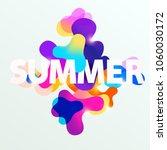 summer typographic poster.... | Shutterstock .eps vector #1060030172