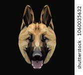 shepherd low poly design....   Shutterstock .eps vector #1060035632