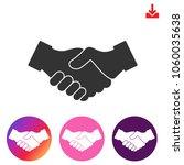 handshake icon.partnership...   Shutterstock .eps vector #1060035638