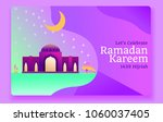 ramadan kareem. vector... | Shutterstock .eps vector #1060037405