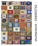 collection of house numbers one ... | Shutterstock . vector #106003742