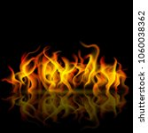 fire flame with reflection on... | Shutterstock . vector #1060038362