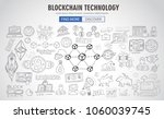 cryptocurrency concept hand... | Shutterstock .eps vector #1060039745