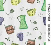 seamless vector pattern with... | Shutterstock .eps vector #1060049828