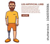 man with a beard a leg... | Shutterstock .eps vector #1060050086