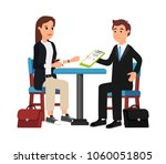 beautiful businesswoman and... | Shutterstock .eps vector #1060051805