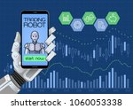 trading robot of automated... | Shutterstock .eps vector #1060053338