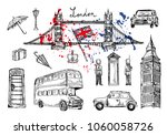 vector illustration. london... | Shutterstock .eps vector #1060058726