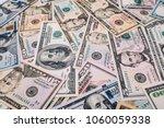 u.s. dollars banknotes of the... | Shutterstock . vector #1060059338