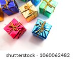 stack of red gift boxes... | Shutterstock . vector #1060062482