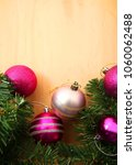 pink and purple christmas... | Shutterstock . vector #1060062488