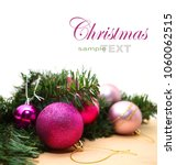 pink and purple christmas... | Shutterstock . vector #1060062515