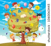 vector illustration of kids... | Shutterstock .eps vector #1060063445