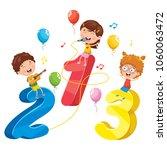 vector illustration of math kids   Shutterstock .eps vector #1060063472