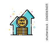 cryptocurrency growth concept.... | Shutterstock .eps vector #1060065605