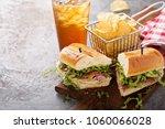 italian sub sandwich with... | Shutterstock . vector #1060066028